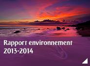Rapport environnement  2013-2014