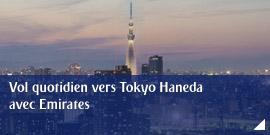 Vol quotidien vers Tokyo Haneda avec Emirates