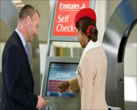 First and Business Class self check-in with bag drop
