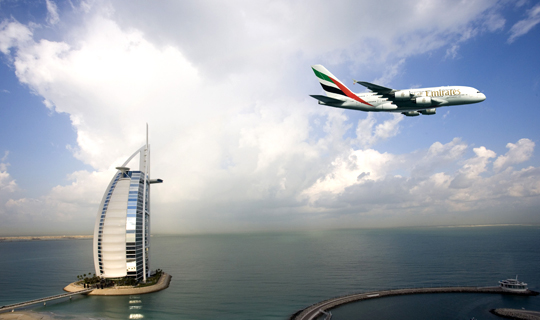 Emirates Airbus A380 Debuts On US West Coast