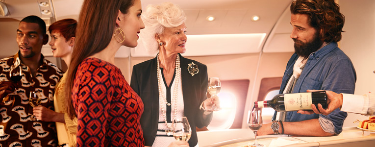 Join the conversation in the Onboard Lounge and sample the exclusive fine wines everyone's talking about