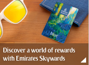 Discover a world of rewards with Emirates Skywards