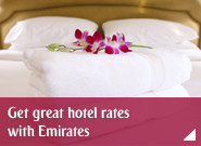 Get great hotel rates with Emirates
