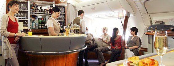First Class Social Area e Lounge di bordo