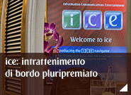 ice: intrattenimento di bordo pluripremiato