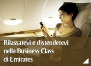 Rilassatevi e distendetevi nella Business Class di Emirates