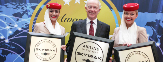 Emirates porta a casa il 2013 'World's Best Airline' Award