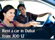 Rent a car in Dubai from JOD 12