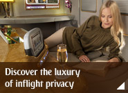 Discover the luxury of inflight privacy
