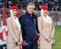 PSS coach Carlo Ancelotti at the Dubai Football Challenge