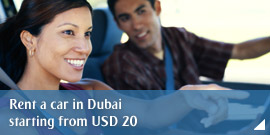Rent a car in Dubai starting from USD 20