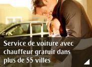 Service de voiture avec chauffeur gratuit dans plus de 55 villes