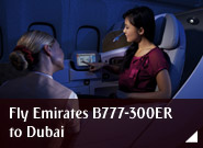 Fly Emirates B777-300ER to Dubai