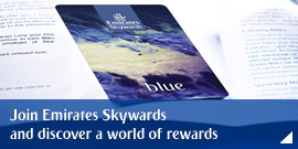 Join Emirates Skywards and discover a world of rewards