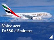 Volez avec l'A380 d'Emirates