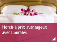Hôtels à prix avantageux avec Emirates