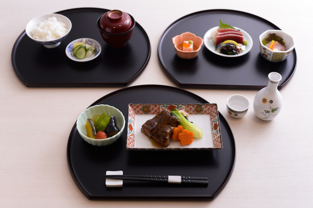 Traditional Kaiseki cuisine on Emirates flights between Dubai and Japan