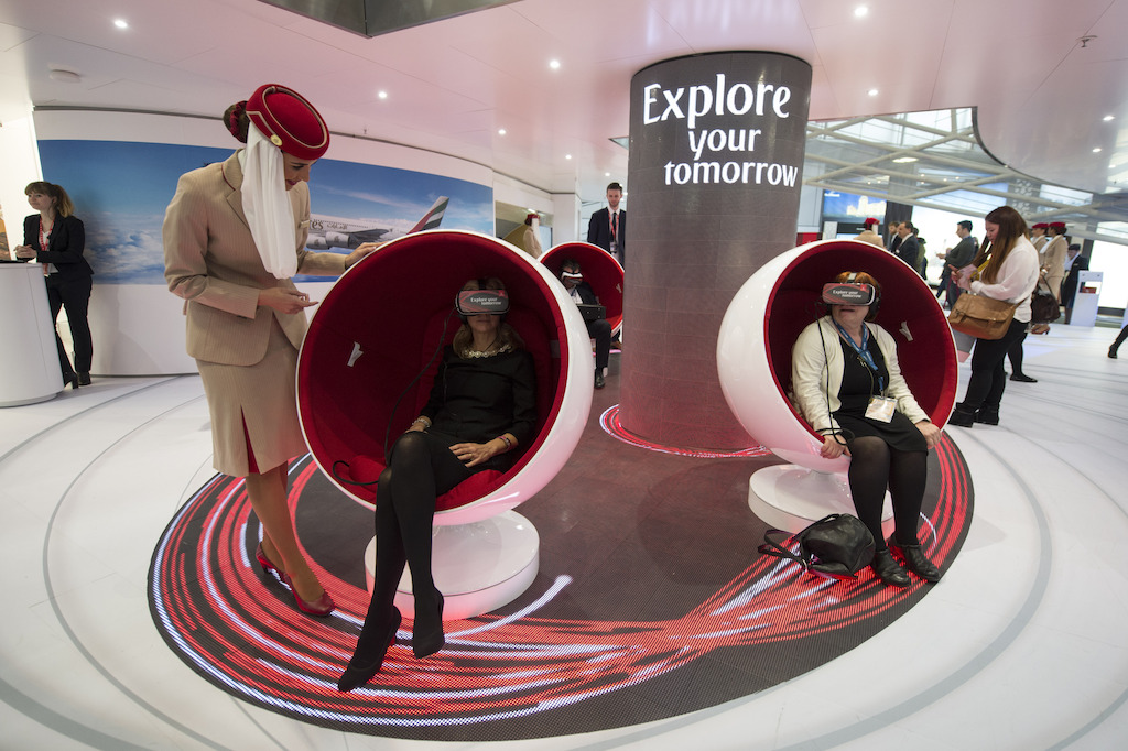 Emirates Hello Tomorrow Virtual Experience at the ITB 2016