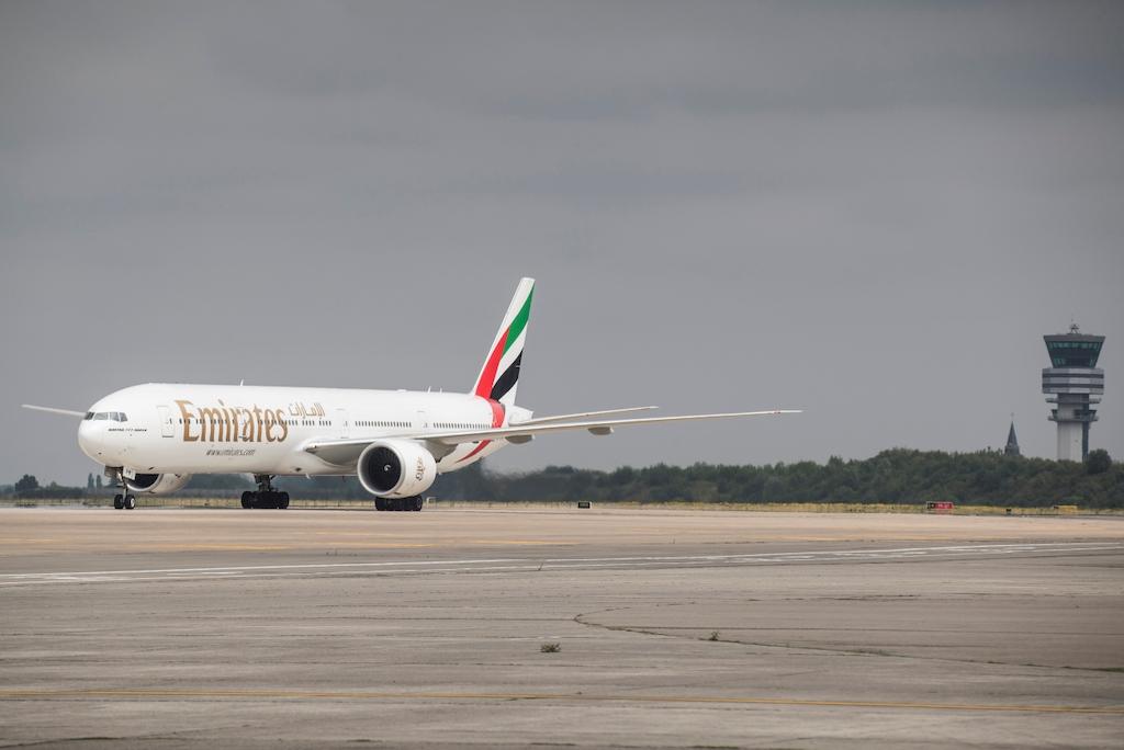 An Emirates B777-300ER