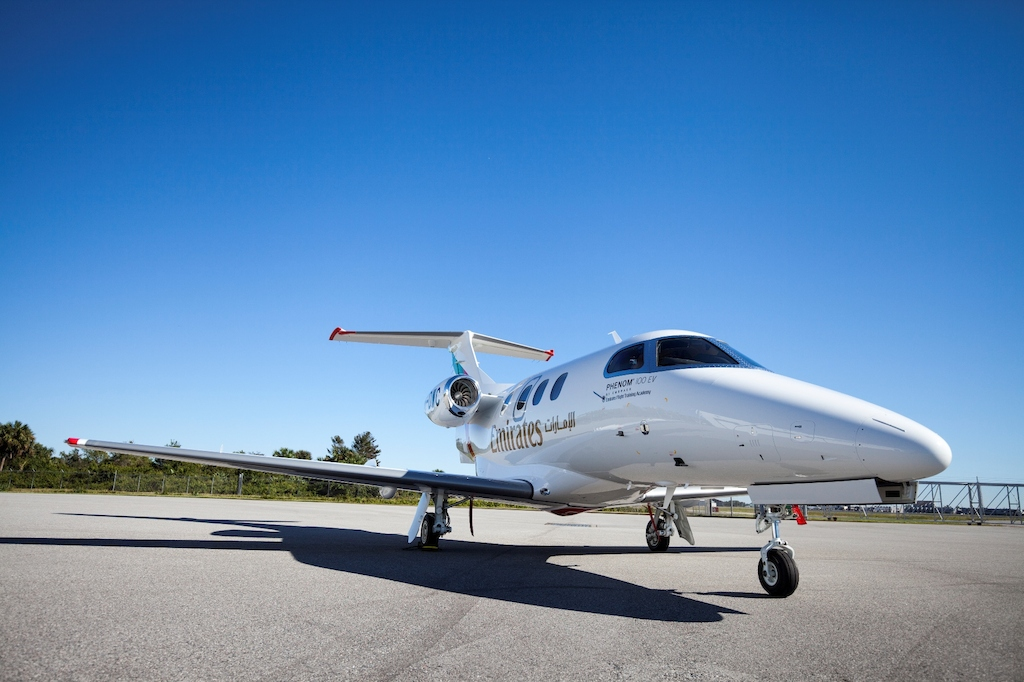 The Emirates Flight Training Academy has placed an order for five Embraer Phenom 100EV aircraft