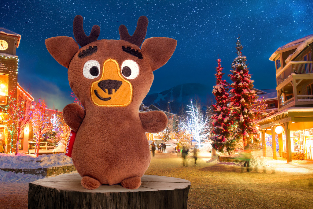 The latest addition to the Fly With Me Animals, Eve the reindeer.