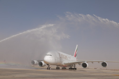 Preview: Emirates A380 Touches Down In Amman
