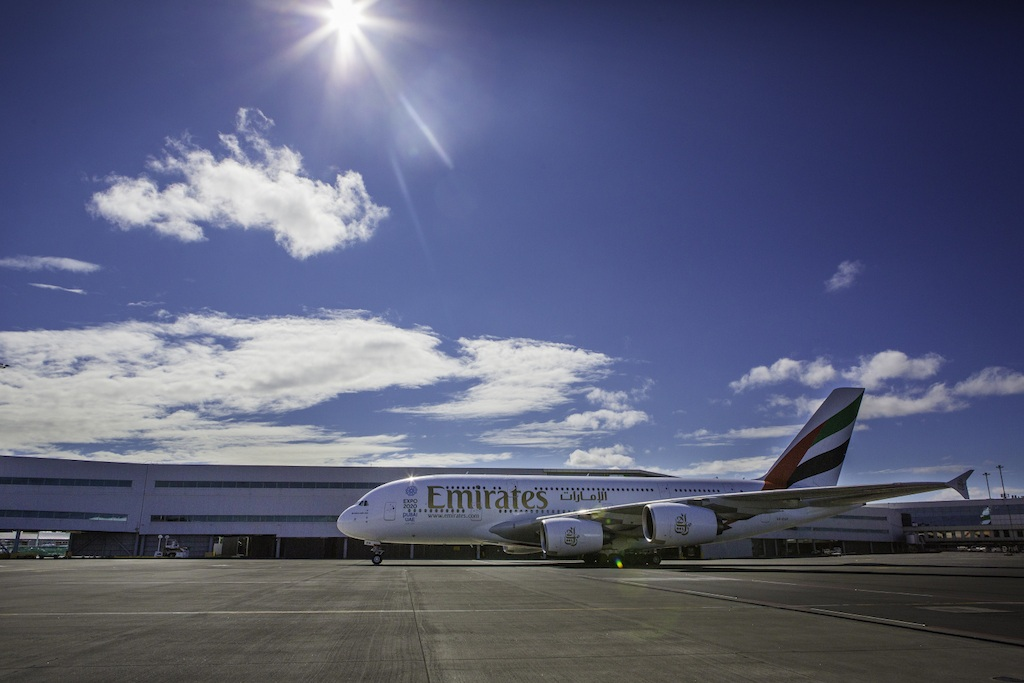 The first direct flight to Auckland was operated by an A380 aircraft