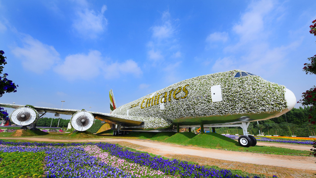 The Emirates A380 structure was built from recycled materials and the flowers and plants are irrigated through a drip water system specially designed for the structure that will keep the A380 installation hydrated and lush throughout the season.