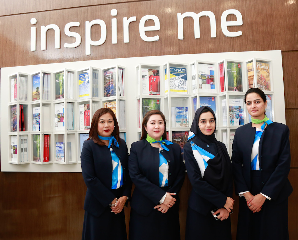 Staff at the new dnata Travel retail outlet