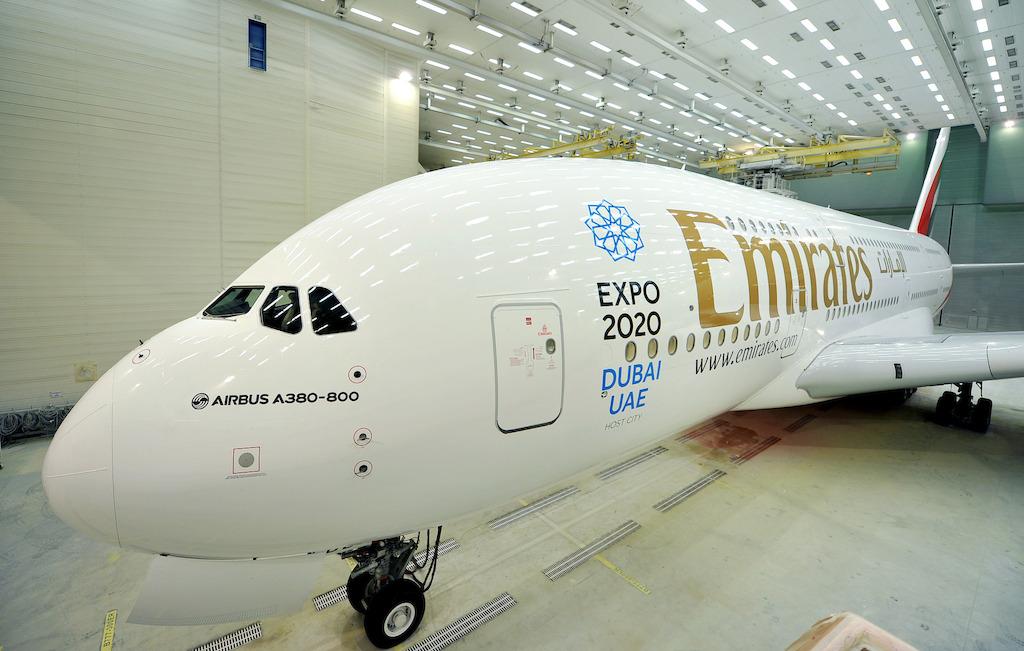 Emirates Aircraft Repainted.