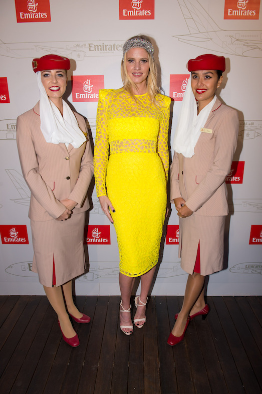 Emirates entertained special guest and international model Lara Stone