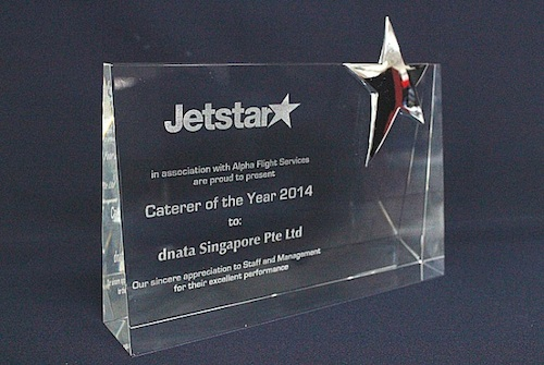 dnata Singapore wins Jetstar's prestigious Caterer of the year Award 2014