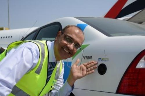 dnata pilots eco- friendly vehicles
