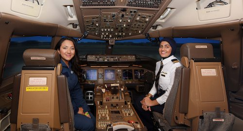 Preview: Emirates highlights female role models in aviation with simulator challenge