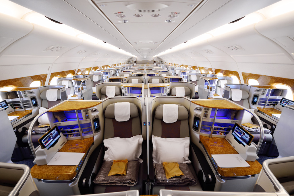 Emirates Business Class cabin