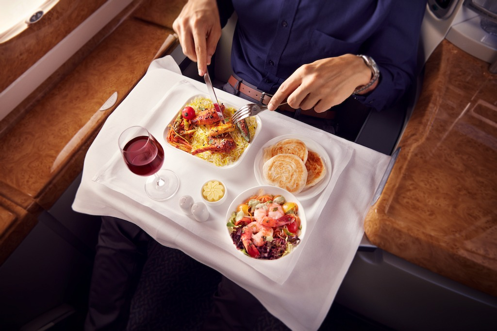 DIning in Business Class