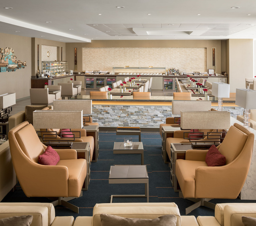 The lounge, which marked a soft opening in April 2017, is now open to Emirates First Class and Business Class customers as well as Platinum and Gold members of Skywards, the airline's frequent flyer program.