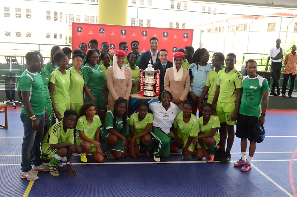 The Emirates FA Cup visits a school in Accra, Ghana
