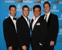 Singing sensations Il Divo arrive at the St Petersburg-themed Emirates Marquee.