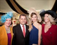 (Left to right) Linda Costantini, from Emirates Melbourne; Boutros Boutros, Emirates' Divisional Senior Vice President, Corporate Communications; with Nicoletta Romanoff and Princess Natasha Romanoff.