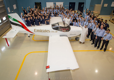 The RV 12, under construction at Emirates Engineering Centre in Dubai.