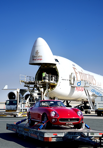 Emirates SkyCargo transports Classic Ferraris for Gulf Concours