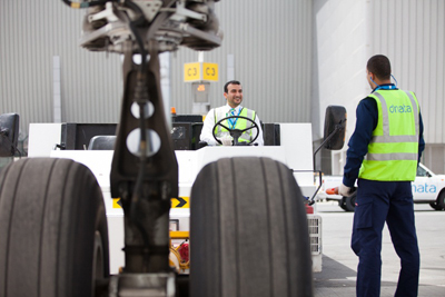 dnata's ground handling experts at Dubai International Airport, part of a 20,000-employee strong global workforce