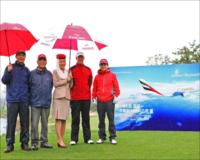 Emirates pro am team with Marcus Fraser