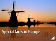 Special fares to Europe
