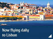 Now flying daily to Lisbon