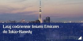 Lataj codziennie liniami Emirates do Tokio-Hanedy