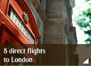 8 direct flights to London