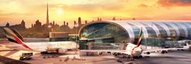 Escalas no Dubai à chegada