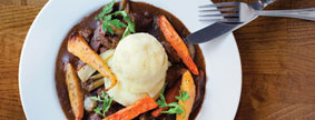 Taste of Dublin - Beef and Guinness Casserole at Fitzsimons Restaurant
